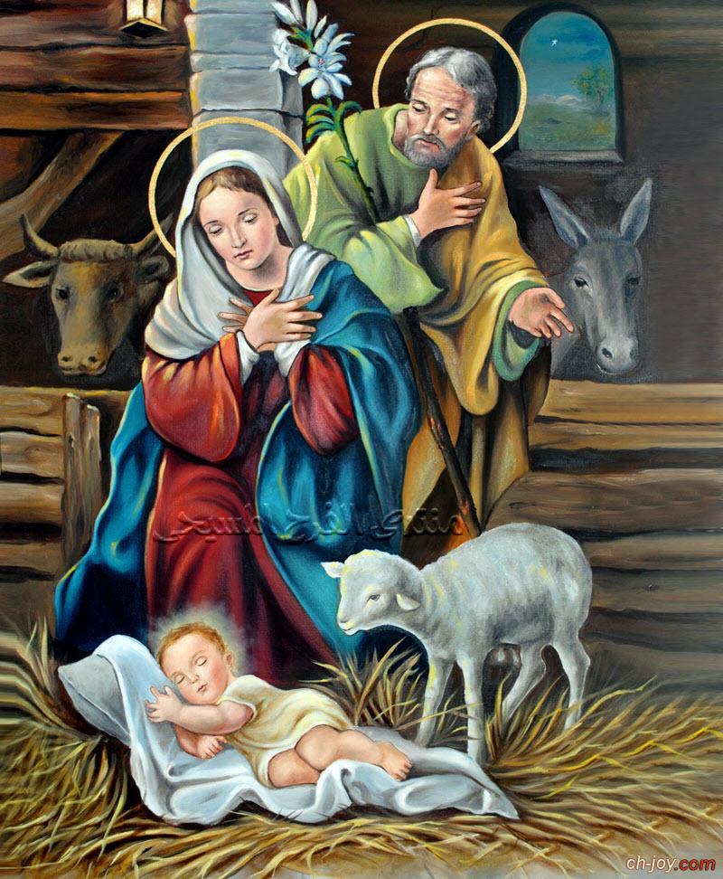 بوستر صورة الميلاد ( ميلاد يسوع فى مزود البقر )