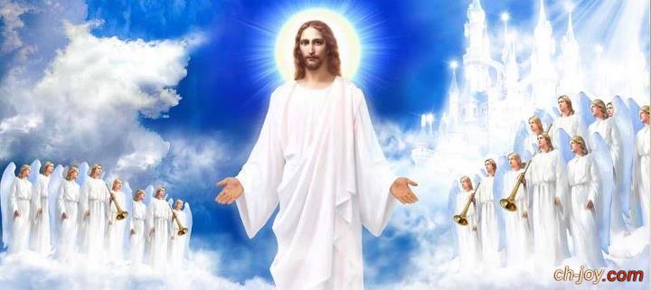 صورة للسيد المسيح  وحوله الشاروبيم والصرافيم يقدمون له التسبيح والتمجيد