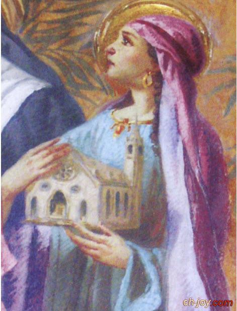 حصريا صورة القديسة الشهيدة افجانيا