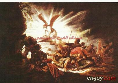 لحظة نادرة:الملاك يدحرج الحجر ويفتح قبر السيد المسيح