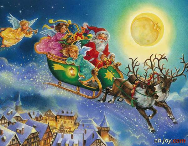 صورة عربة بابا نويل - منتدى الفرح المسيحى