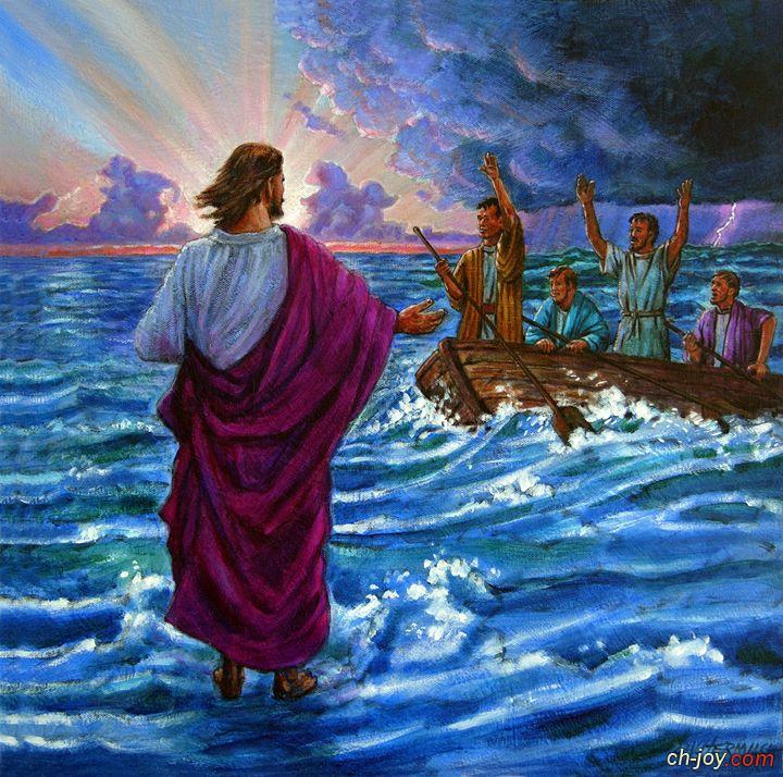 يسوع يمشي على المياه