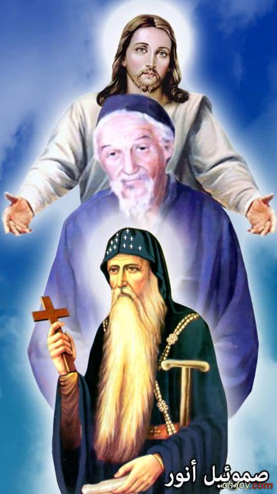 صورة رائعة لرب المجد وابونا يسطس وابونا عبد المسيح المناهرى