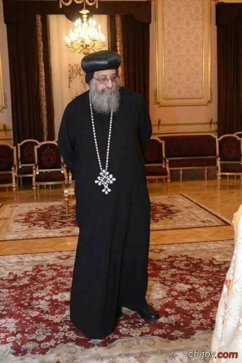 صورة لقداسة البابا تواضروس  الثانى قبل تجليسة على الكرسى البابوى