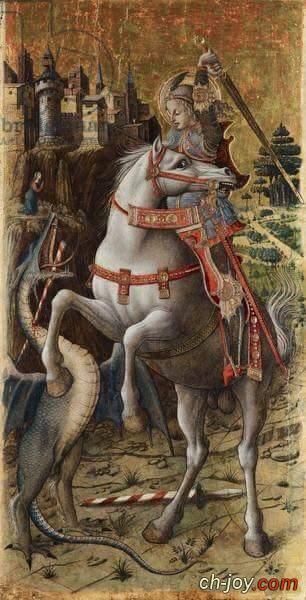 ايقونة نادرة من القرن ال 14 للشهيد مارجرجس الرومانى