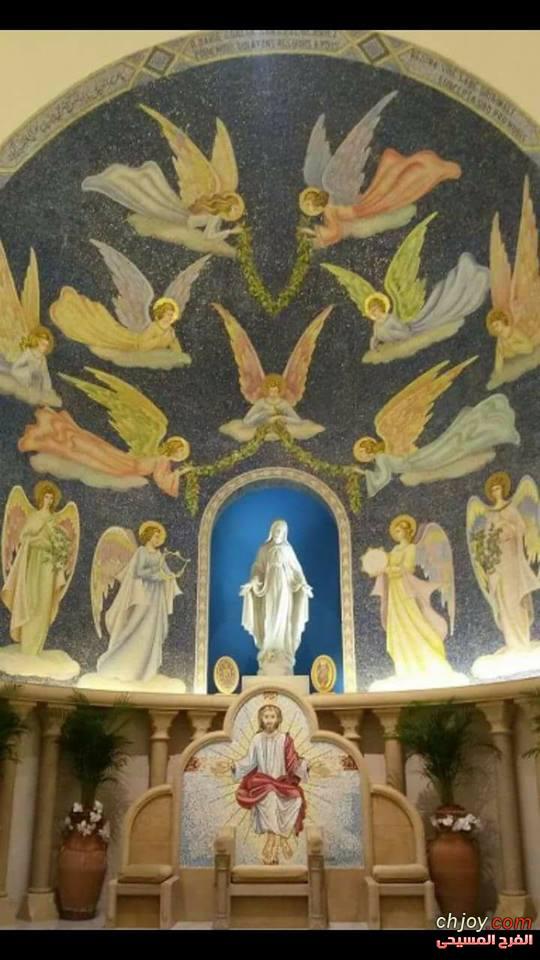 في إحدى ظهورات أمنا السماوية مريم العذراء للقديسة كاترين لا بوري