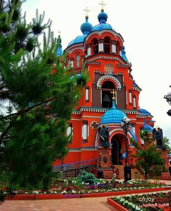 كنيسة السيدة العذراء مريم في منطقة اركوتسك روسيا