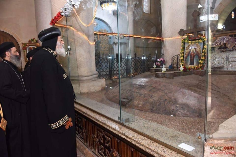 كلمة قداسة البابا خلال زيارته لدير القديسة دميانة بالبراري للتعزية في رحيل نيافة الأنبا بيشوي