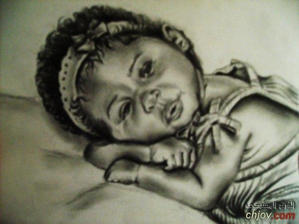 صورة طفلة مرسومة