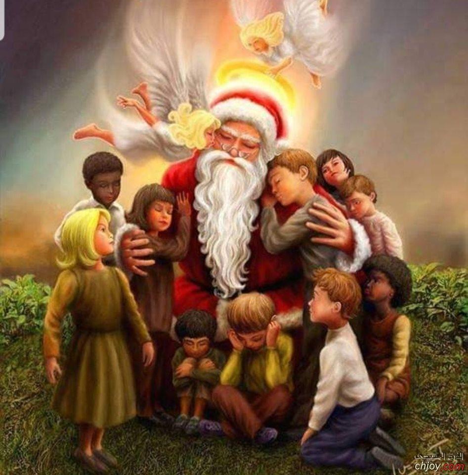 سانتا كلوز فرح قلب الاطفال الحزانى