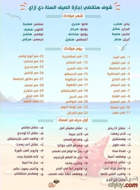شوف هتقضي إجازة الصيف السنة دي إزاي