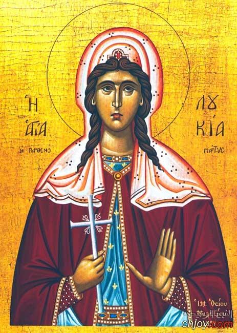 القديسة الشهيدة لوسيا الصقلية