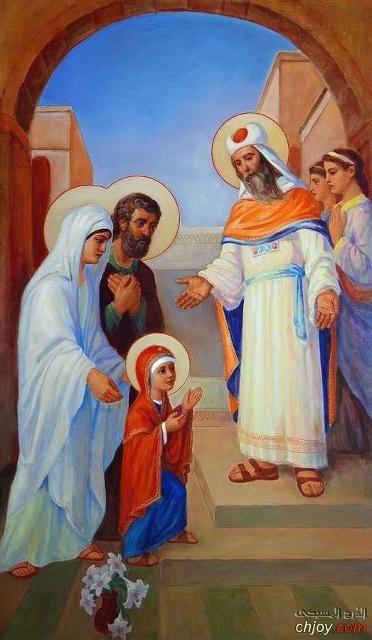 أيقونة دخول السيدة العذراء مريم الهيكل