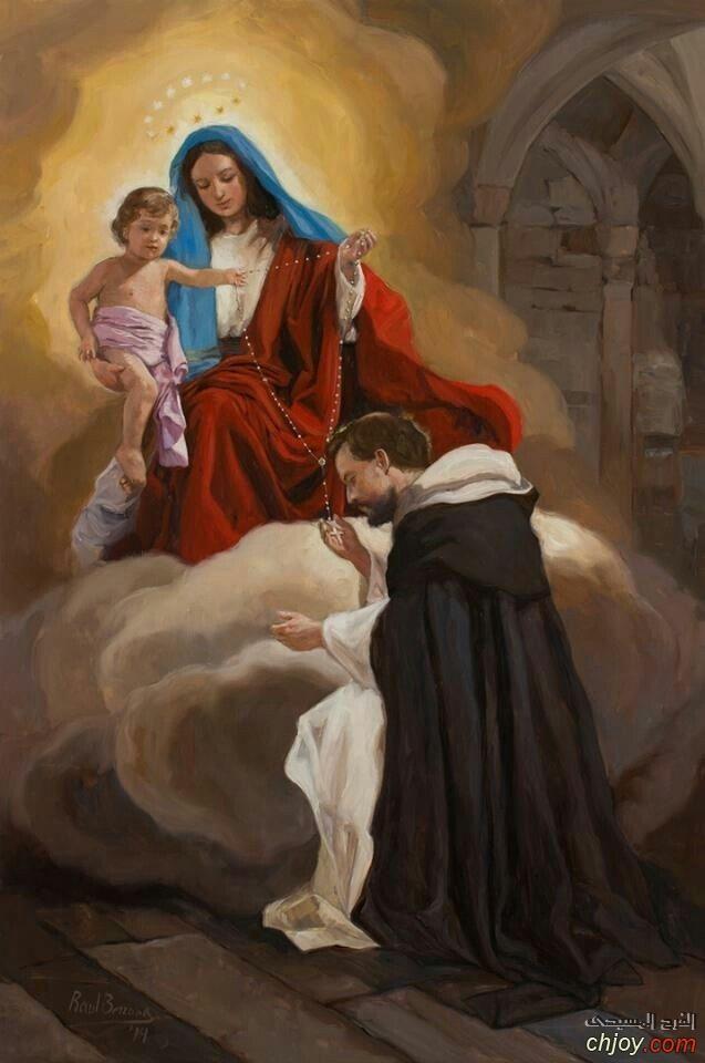 القديس عبد الأحد الذى كان شغوفا باكرام العذراء مريم