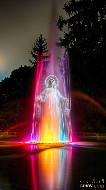 خلفية كلاسيك مسيحية للموبايل أم النور العذراء مريم