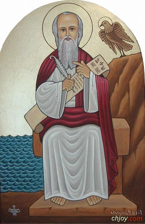 أيقونة مار يوحنا فى كنيسة مار يوحنا وست كوفينا كاليفورنيا