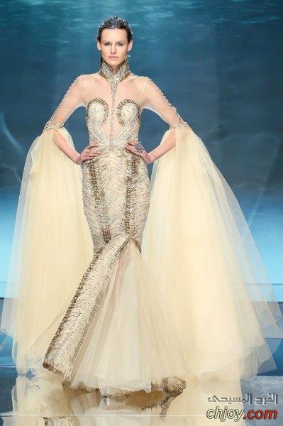 موديلات فساتين خطوبة بقصّة حورية البحر لعروس