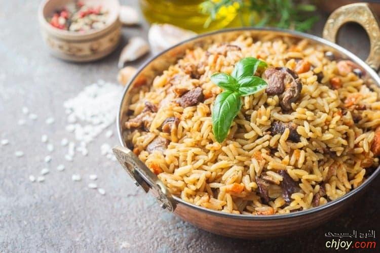 أرز بسمتي باللحم للرجيم