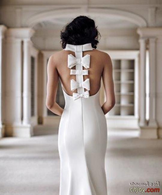 موديلات فساتين زفاف مميزة من الخلف