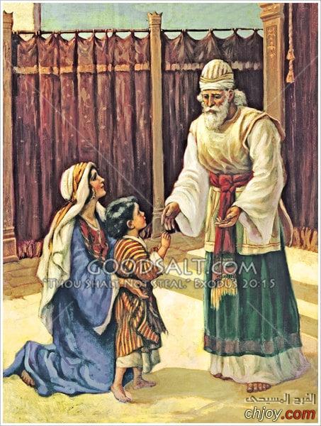 صورة ✝الصديقة حنة أم صموئيل النبي ✝