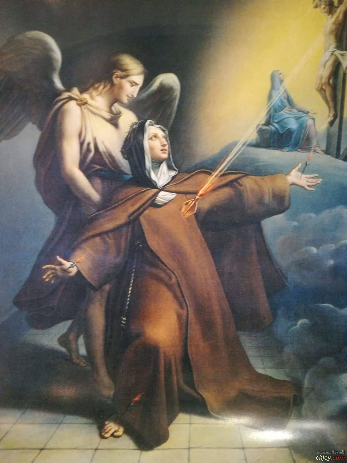 القديسة فيرونيكا جولياني وحصولها على سمات صلب المسيح لاول مرة