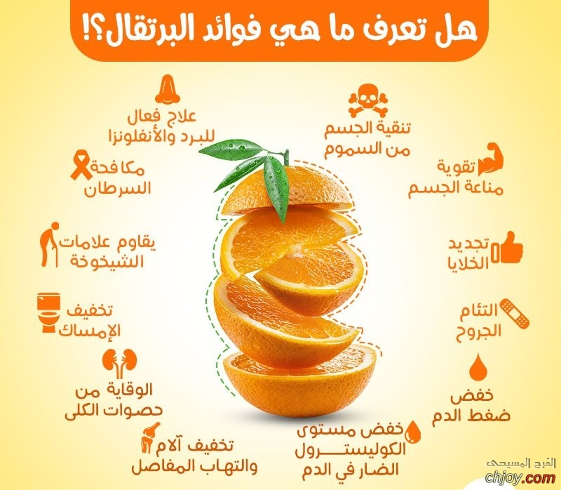 تعرف على فوائد البرتقال