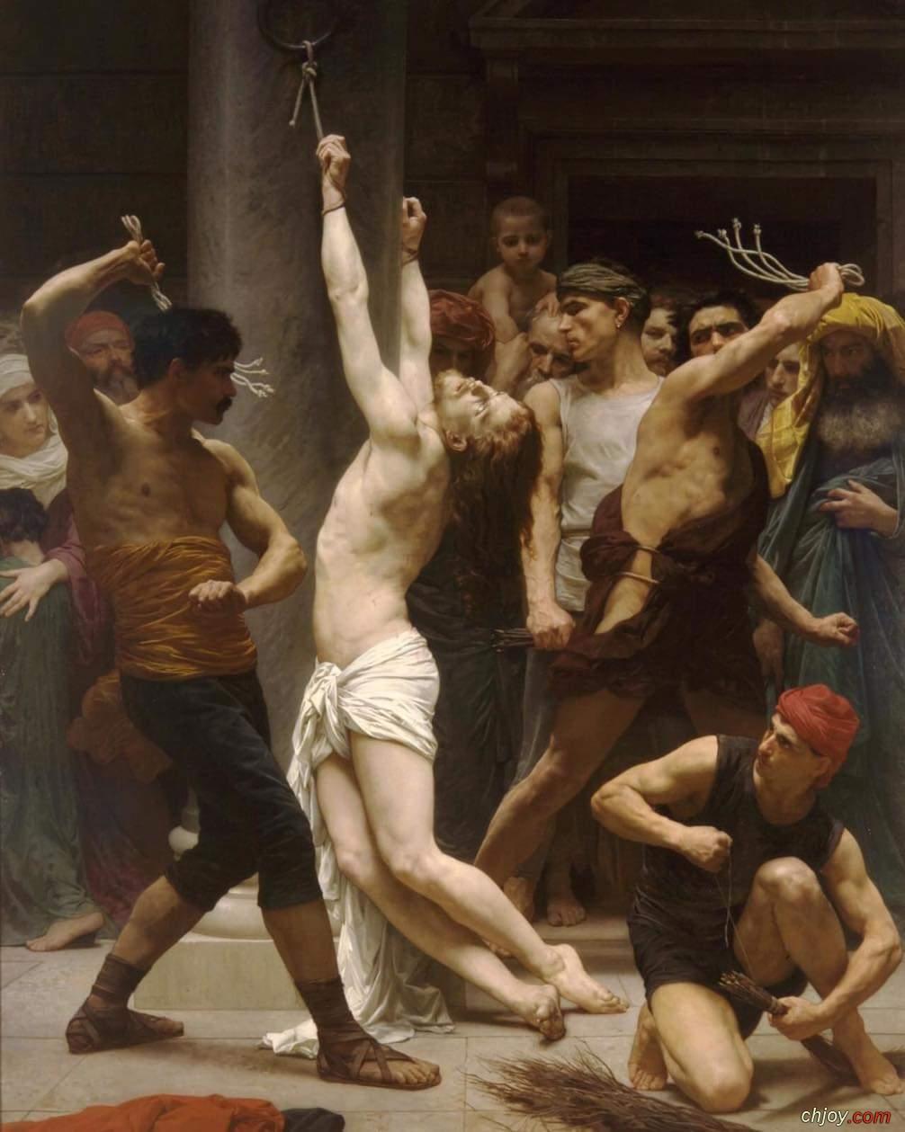 """لوحة بعنوان """"جَلْد يسوع المسيح"""""""