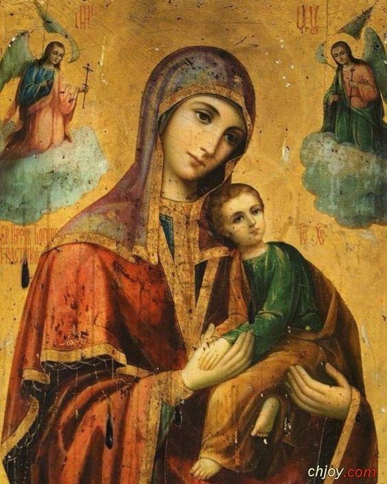 صورة العذراء مريم تحمل الطفل يسوع