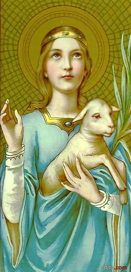 المسيح جعل روحي جميلة ( الشهيدة العفيفة أجنس )