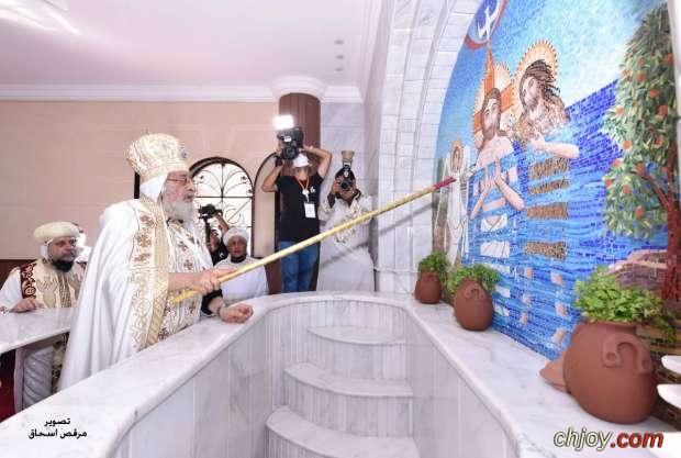 البابا تواضروس الثاني يدشن ايقونات كنيسة الرسولين بطرس وبولس بمدينة النوبارية