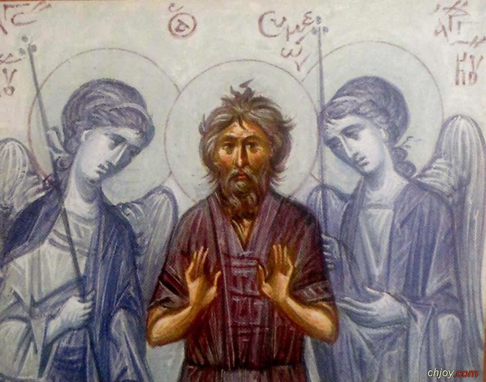 القديس سمعان سالوس الناسك