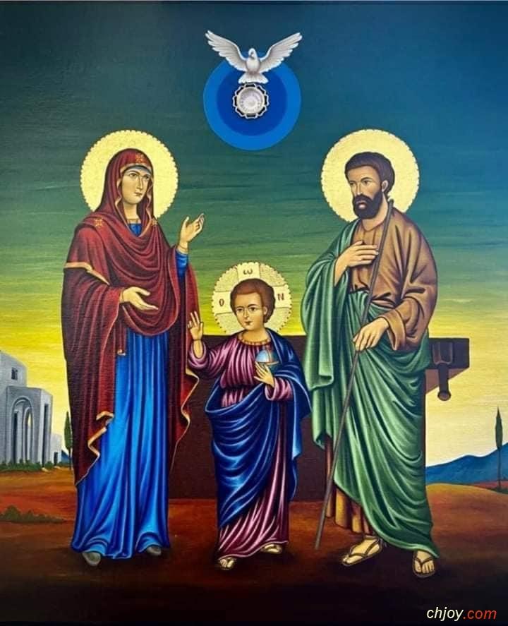 شرح لأيقونة العائلة المقدّسة للمشيئة الإلهية