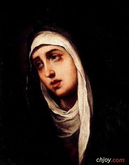 الأم الحزينة مريم صلى لأجلنا