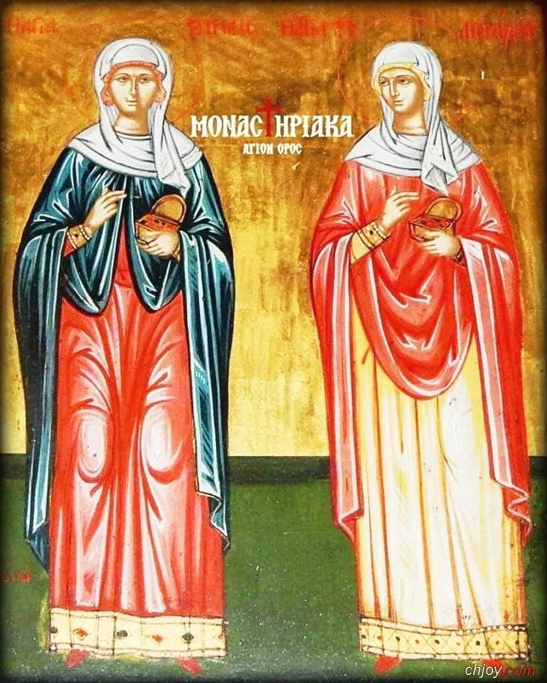 صورة القديستان الشهيدتان الطبيبتان زنيدة (زينايس) و فيلونيلا